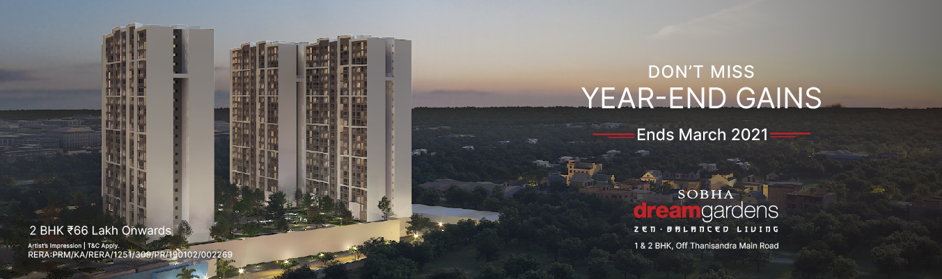 Sobha dream acres campaign banner