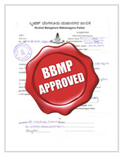 Certificate on BBMP approval