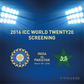 Sobha Privilege - Come witness T20 Cricket Screening