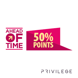Introducing 50% Ahead of Time Points Offer