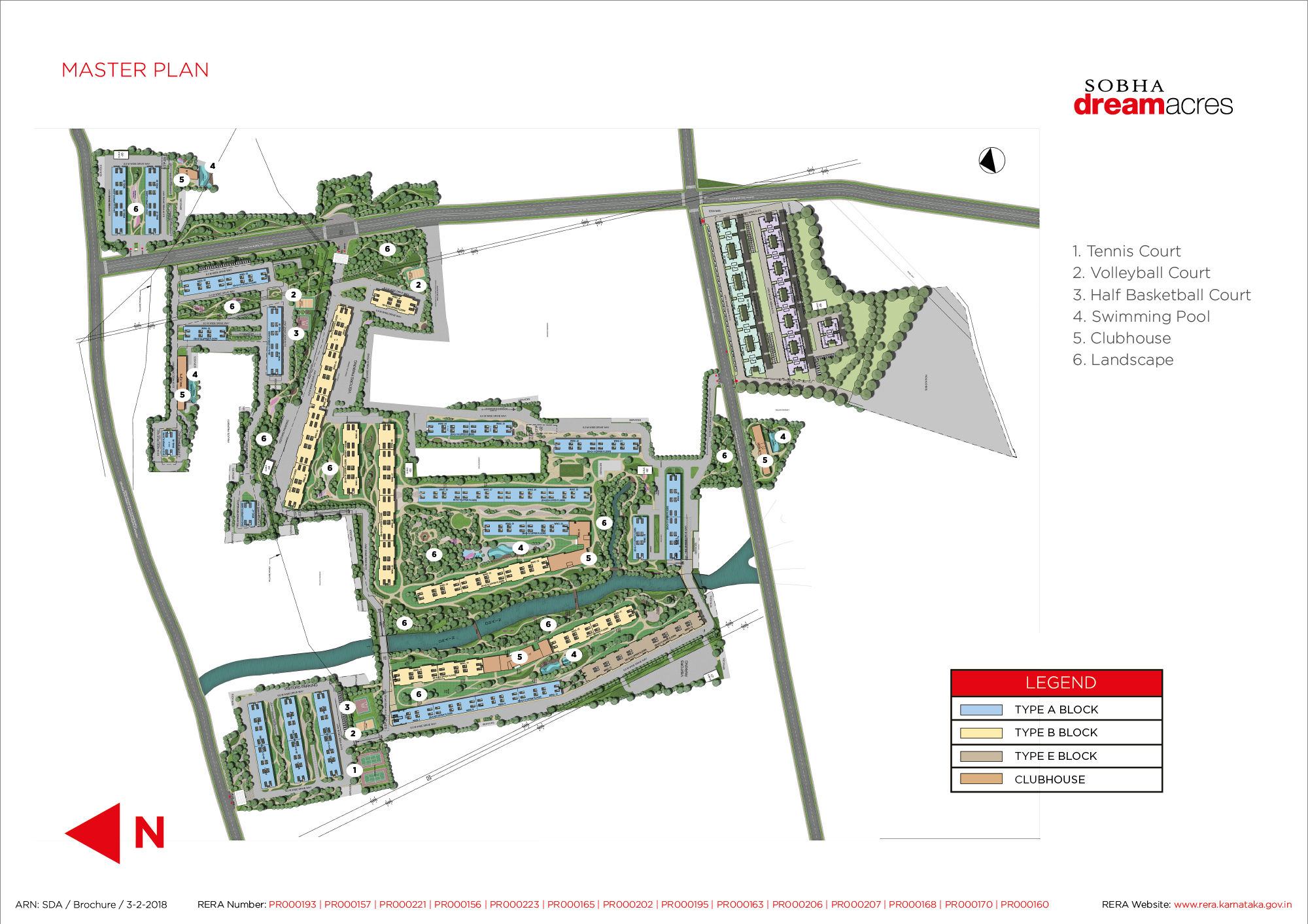 Master plan of Sobha Dream Acres - Flats for sale in Marathahalli