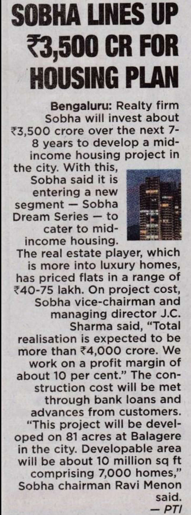 Sobha Dream Acres - New apartments for sale in Marathahalli Bangalore