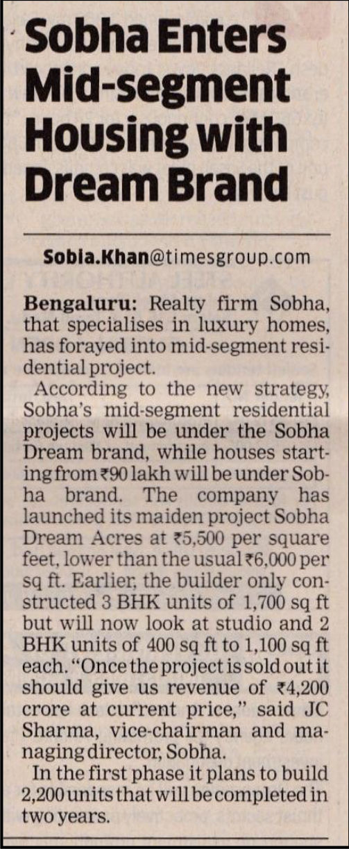 Sobha Dream Acres - New flats for sale near Marathahalli Bangalore