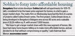 News about Sobha Dream Acres - New apartments for sale on sarjapur road Bangalore