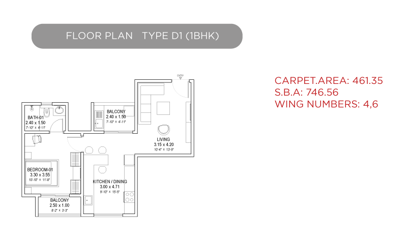 1 bhk floor plan sobha dream gardens